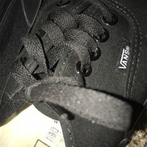 Vans Shoes - Black vans 6.5 men
